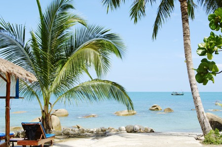 Tropical marine landscape. Silver Beach Koh Samui Thailand