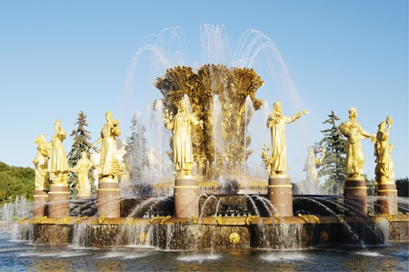 gush: Fountain  Friendship of peoples, ENEA,VDNH,VVC Moscow, Russia.