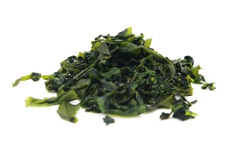 Algues lat wakame. Undaria pinnatifida sur blanc isolé Banque d'images - 42343506