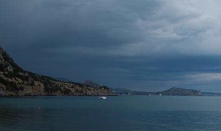 gloaming: evening in Green Bay, Novyi Svit, Crimea