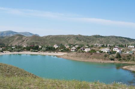 lake at township Sunny Valley, Crimea