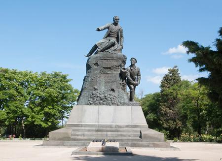 admiral: monument to Admiral Kornilov on Malakhov Kurgan, Sevastopol, Crimea