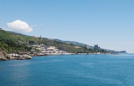 alupka: Black sea coast of Alupka, Crimea