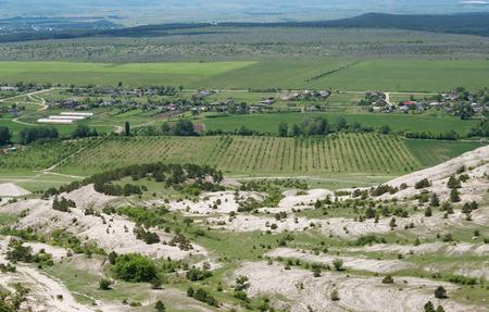 valley at mountain White Rock (Ak-Kaya), Crimea Stok Fotoğraf