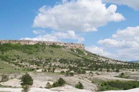 badland: mountain White Rock (Ak-Kaya), Crimea Stock Photo