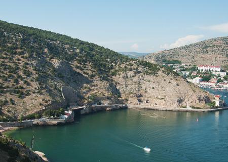 views of Balaklava bay, mountain Tavros, Crimea