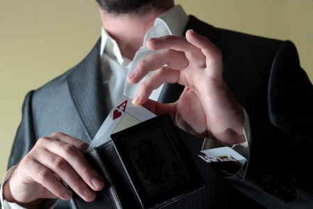 con man: gamble Stock Photo