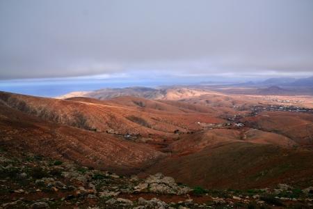 mirador: View from  Mirador de Betancuria , Fuerteventura Stock Photo