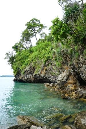 cliff coast in thailand