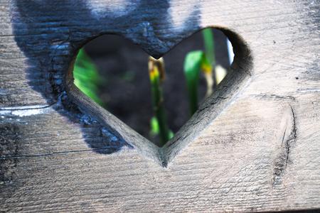 burnt: burnt heart Stock Photo