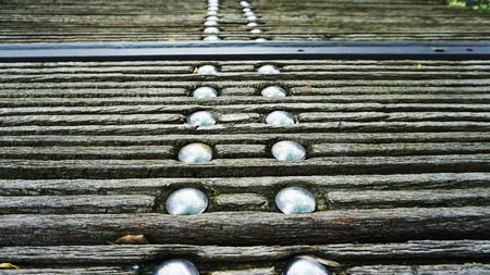 footbridges: wooden path Stock Photo