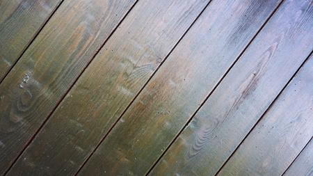 dark brown varnished planks Stock Photo
