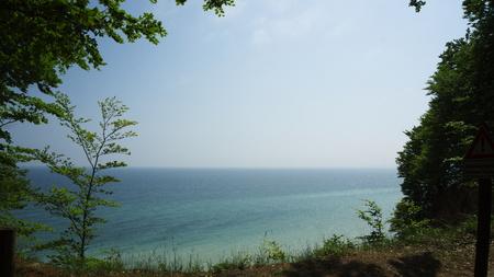 steep: view from steep coast to baltic sea
