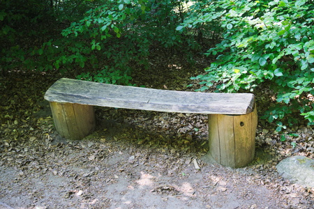 restfulness: modest park bench