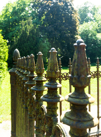 metal fence: metal fence with ornaments