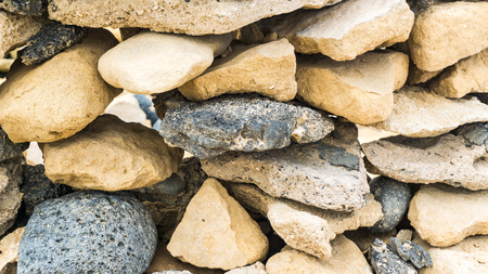 stone wall of wind shelter Stockfoto