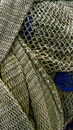 Brown is fishnet in harbor of Palma de Mallorca
