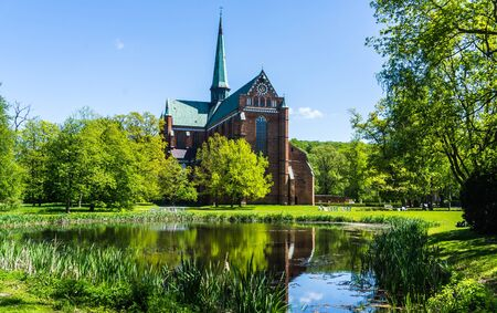 BAD DOBERAN,GERMANY - MAY 13, 2019 -  Minster in Bad Doberan, Mecklenburg-Western Pomerania, Germany