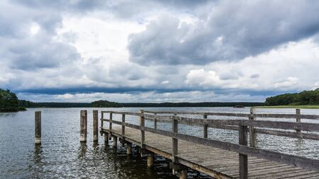 jetty at the lake of Rheinsberg