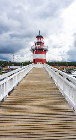 lighthouse in harbor village Rheinsberg
