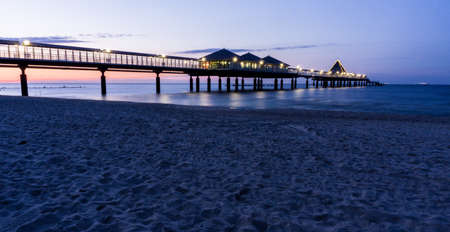 pier of Heringsdorf on island Usedom at night