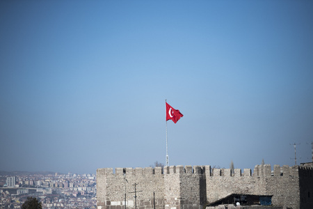 Ankara Castle Building Stock Photo