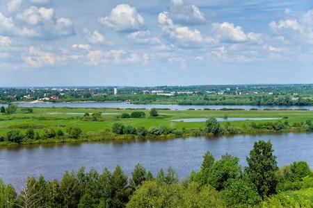 oka: View of the Oka river and Spassk-Ryazansky city  Ryazan region , Central Russia