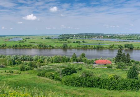 tributary: Oka River near Spassk-Ryazansky town.  Ryazan region, Central Russia Stock Photo