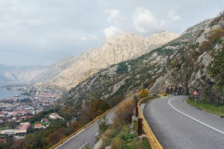 Awkward corner to turn. Montenegro, road to Kotor city photo