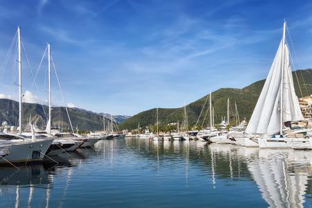 porto: Porto Montenegro. Tivat city Montenegro