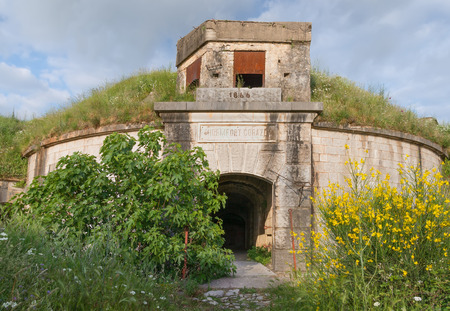 ruinous: Austro-Hungarian fortresses of Montenegro. Thurmfort Gorazda. Main entrance.