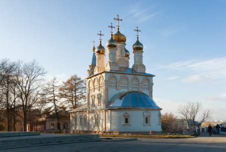 transfiguration: Church of The Transfiguration of Our Saviour On Yar. Ryazan city, Central Russia Stock Photo