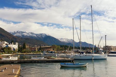 boat dock: View of boat dock in Seljanovo village near Tivat city.  Montenegro