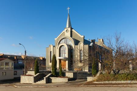 第 7 日のアドベンチスト派教会。ウーマニ市中央ウクライナ