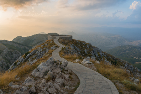 viewpoint: Montenegro. Viewpoint Lovcen National Park Stock Photo