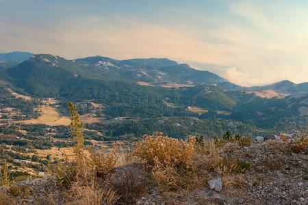 paisaje mediterraneo: Vista del parque nacional de Lovcen. Montenegro