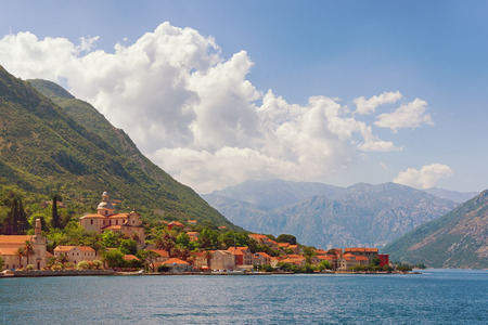 Prcanj town  located on the Kotor Bay coast. Montenegro