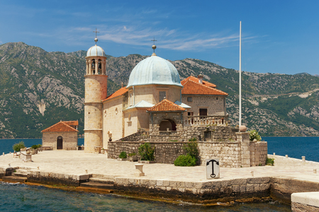 Roman Catholic Church of Our Lady of the Rocks. Bay of Kotor, Montenegro