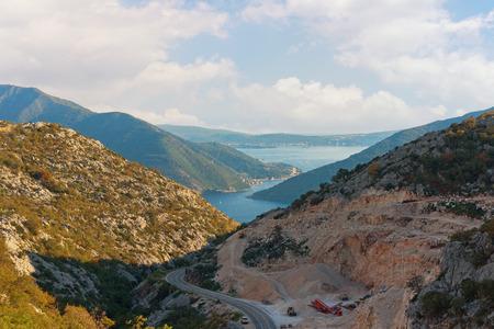 boka: Road to Boka Kotorska bay. Montenegro
