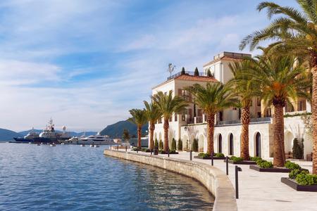 kotor: Embankment of Tivat city. Montenegro