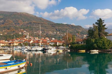 kotor: View of Marina Kalimanj in Tivat, Montenegro