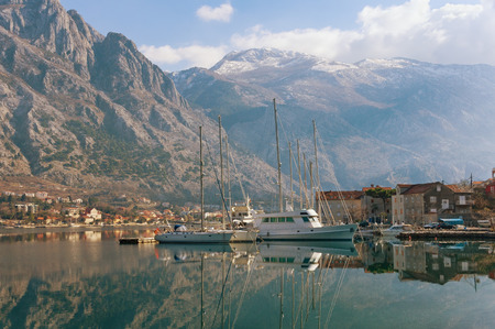 Bay of Kotor near seaside Muo village. Montenegro