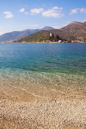 Bay of Kotor near Verige Strait. Montenegro, winter