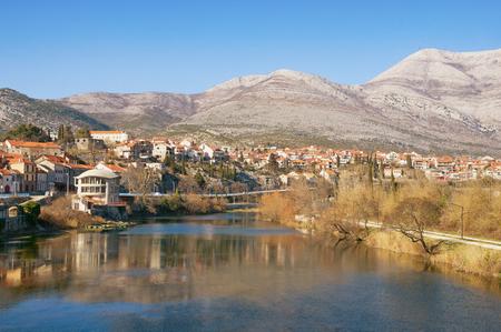 View Trebinje city and Trebisnjica river. Bosnia and Herzegovina Stock Photo