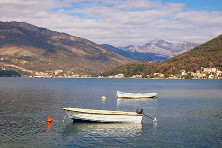 Two boats. Bay of Kotor, Montenegro