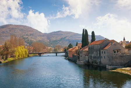 republika: View of Trebisnjica river near Old Town of Trebinje. Bosnia and Herzegovina