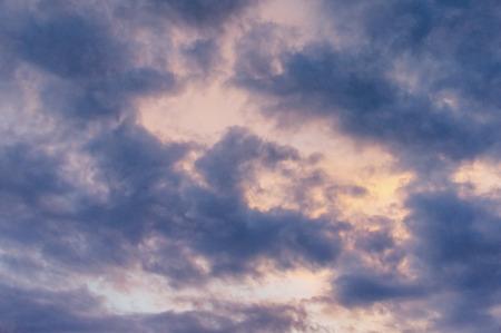 Evening sky with dark clouds