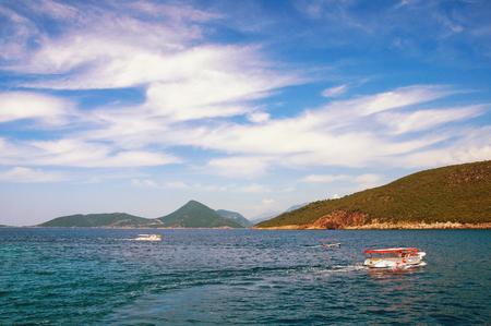 kotor: Montenegro. View of the Bay of Kotor Stock Photo