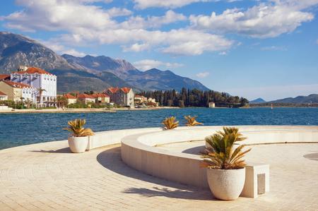 kotor: Embankment of Tivat town. Montenegro