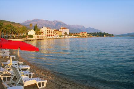 balkans: Bay of Kotor near Tivat town. Montenegro
